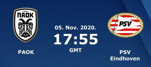 Soi kèo nhà cái bóng đá trận PAOK vs PSV 00:55 – 06/11/2020