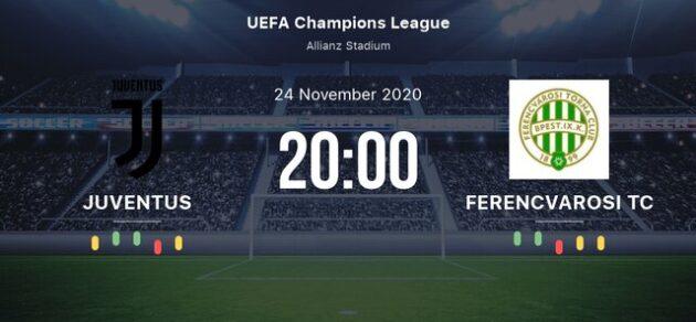 Soi kèo nhà cái bóng đá trận Juventus vs Ferencvaros 03:00 – 25/11/2020