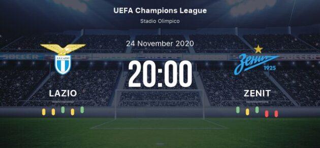 Soi kèo nhà cái bóng đá trận Lazio vs Zenit 03:00 – 25/11/2020