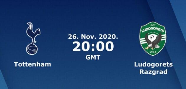 Soi kèo nhà cái bóng đá trận Tottenham vs Ludogorets Razgrad 03:00 – 27/11/2020
